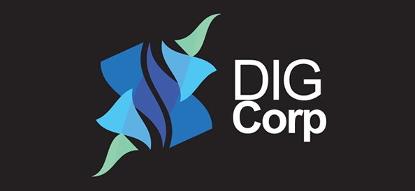 Abstract Logo Design for Dig Corporation