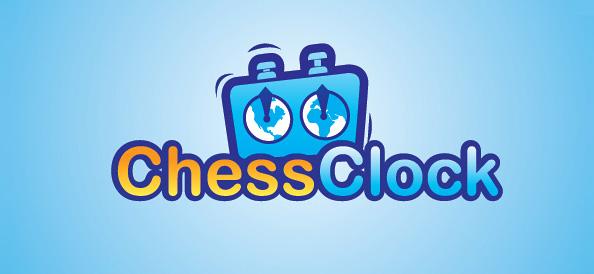 Free Chess Clock Logo Design