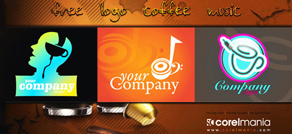 Music and Coffee Free Logo Designs