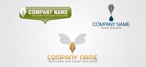 3 Content Writer Logo Designs