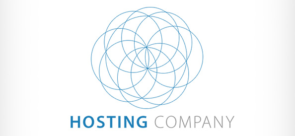 Server Hosting PSD Logo Design