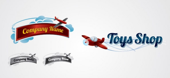 Toy Shop Vector Logo Design Template