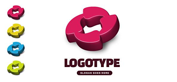 Free 3D Logo Vector Template