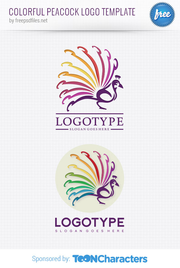 Colorful Peacock Logo Template