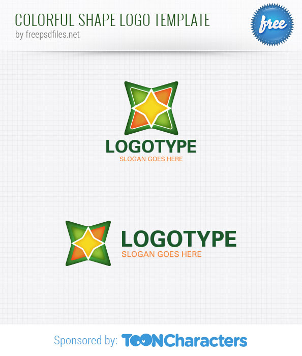 Colorful shape logo template