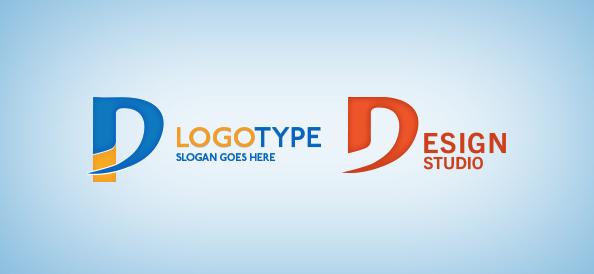 Letter Shaped Logo Template