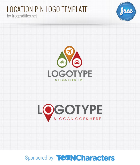 Location Pin Logo Template