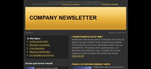 Dark Free Email Template Left Sidebar