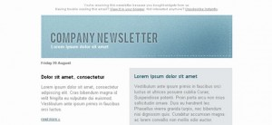 Stylish Free Email Template Left Sidebar