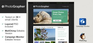Free Html Email Template - Photographer
