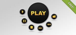 PSD Media Buttons Set