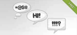 Word and Thought Chat Bubbles