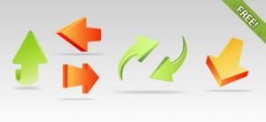 7 3D Arrow Icons