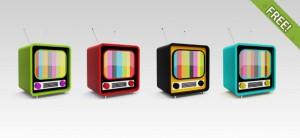 Free PSD Retro TV Icons