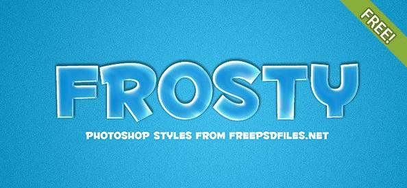 Frosty Photoshop Style