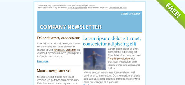 Blue Email Marketing Newsletter Template