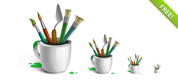 Designer Brushes-Icon Set