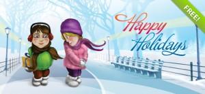 Christmas Holiday Card PSD Template