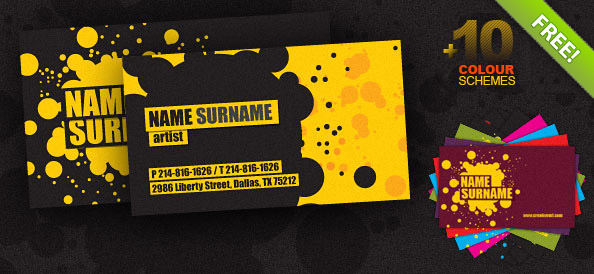 Creative business card psd template free psd files reheart Images