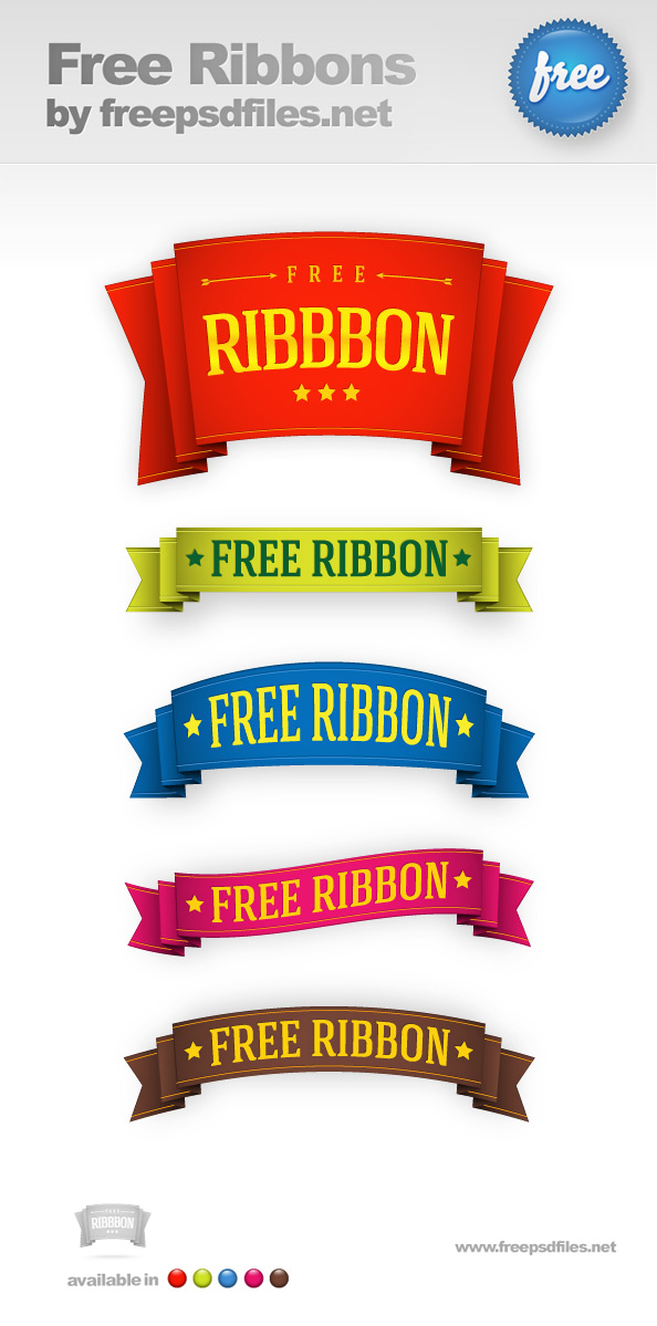 5 Free Ribbon Templates Preview Big
