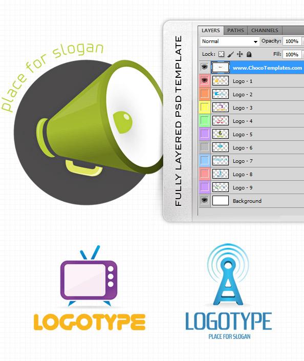 Fully Layered Logo Design Set