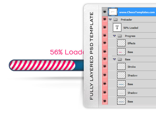 progress bar psd mockup