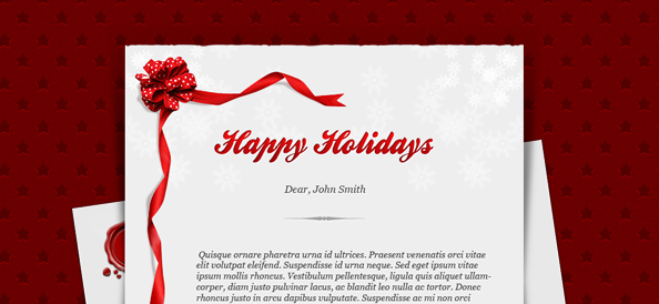 Holiday Card PSD Template