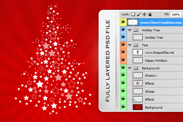 Fully Layered PSD Holiday Background