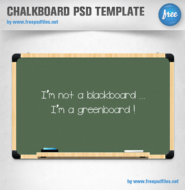 Chalkboard PSD Template Preview Full