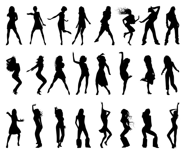 Dancing Girls Silhouettes Set 2 Preview