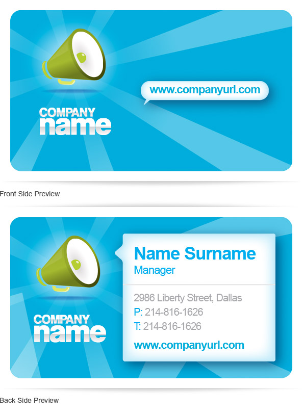 Free PSD Business Card Template Free PSD Files