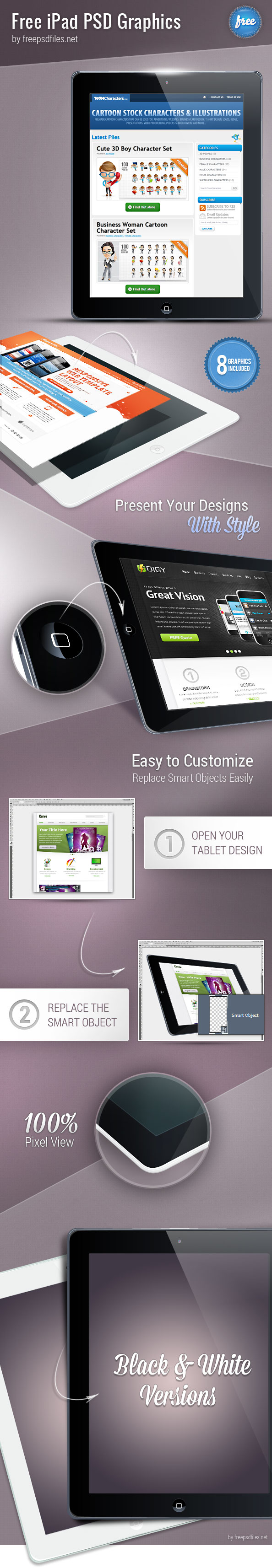 iPad PSD Graphics Preview