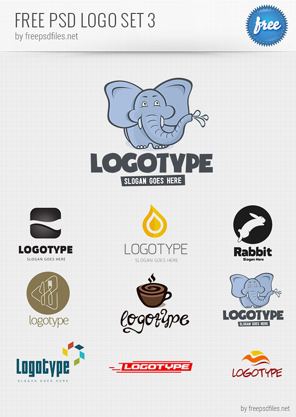 PSD Logo Design Templates Pack 3   Free PSD Files 7xtZXoZR