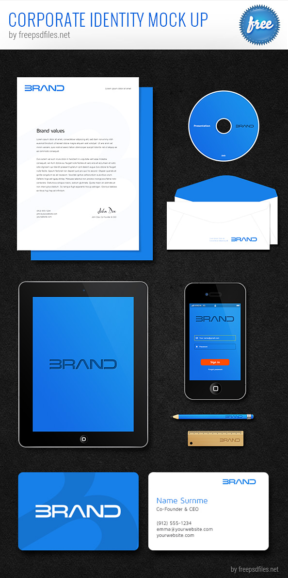 Corporate Identity PSD Mockup Preview