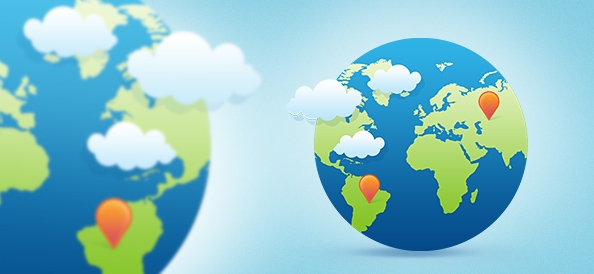 Globe Design PSD Graphics
