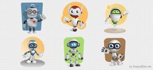 Robot Vector Character Set 1