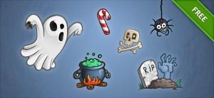Free PSD Halloween Set 2