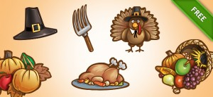 Free PSD Thanksgiving Set 1