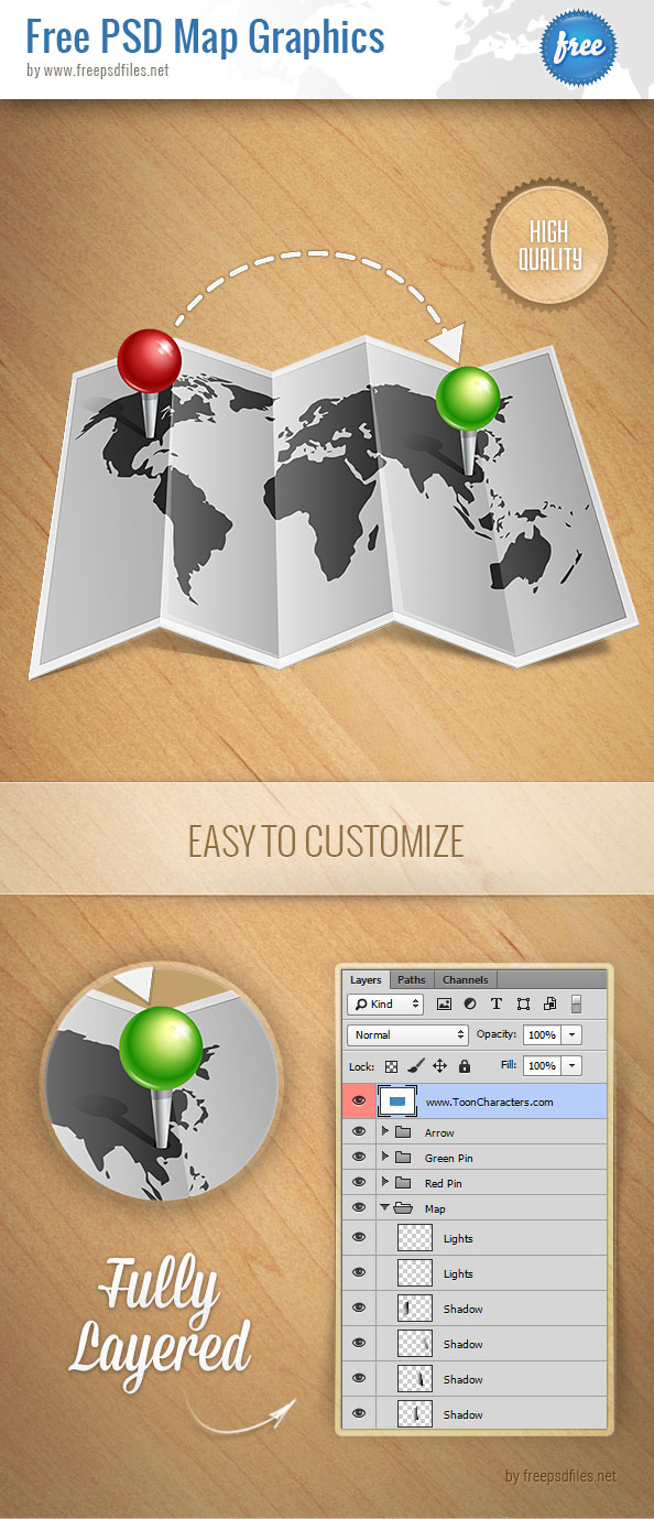 Free PSD Map Graphics Preview