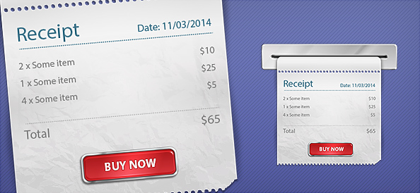 Free PSD Receipt Graphics