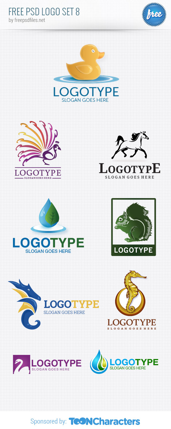 Free PSD Logo Design Templates Pack 8