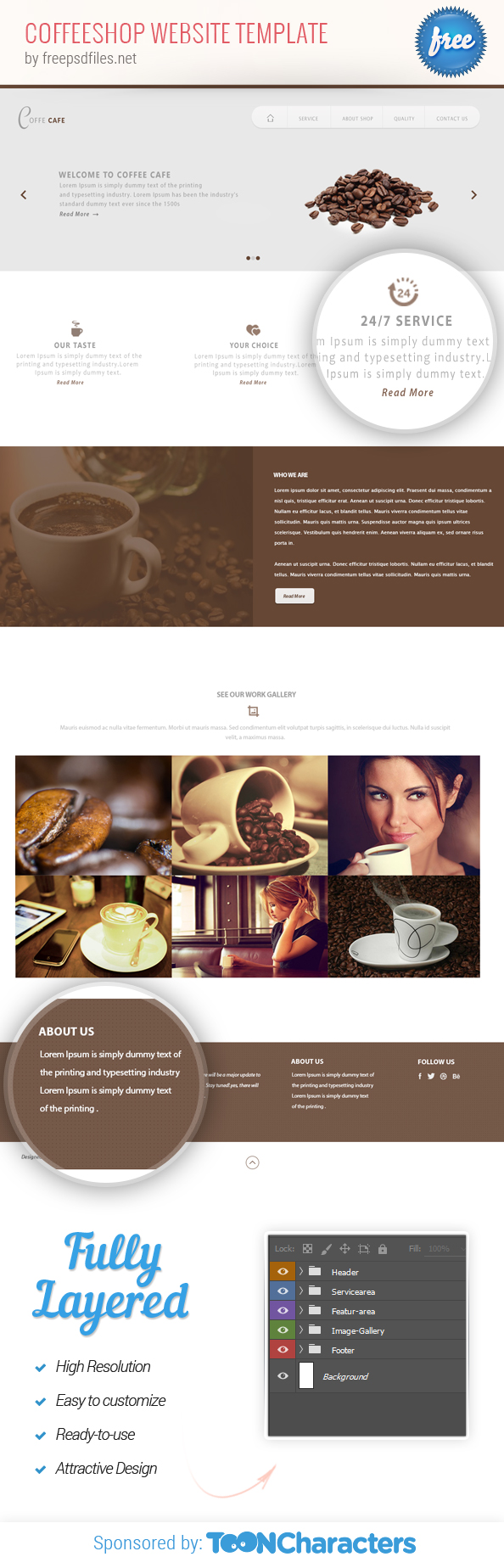 free psd coffeeshop website template free psd files. Black Bedroom Furniture Sets. Home Design Ideas