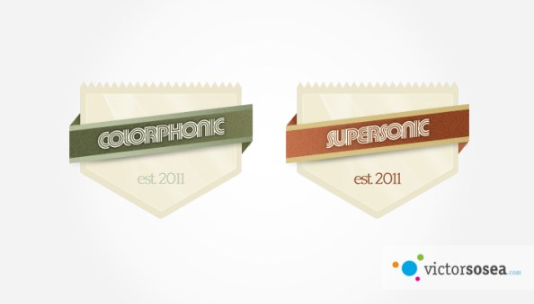 Badge-with-Ribbons-Free-PSD