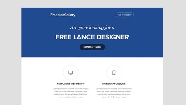 blue email-template-psd