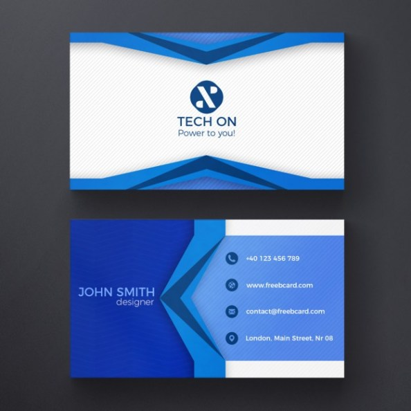 blue-geometric-card