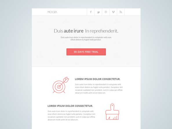 clean newsletter template
