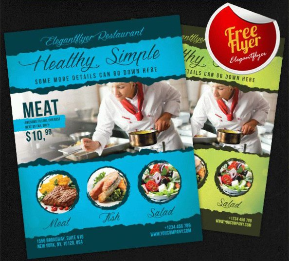 free flyer template restaurant