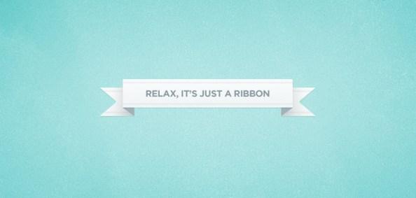 little folded ribbon