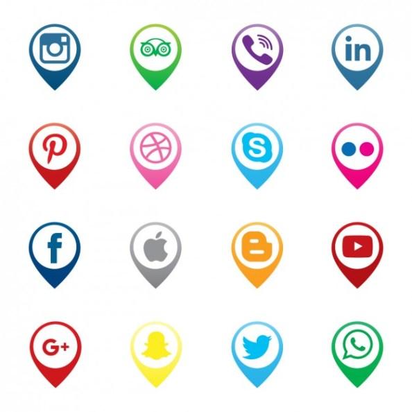 pins-map-social-media-icons