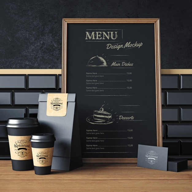 menu mock ups
